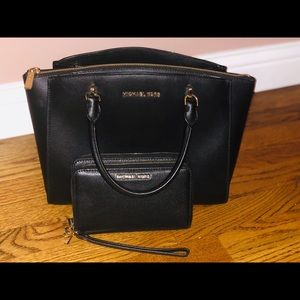 MK Selma medium TZ satchel with MK wallet